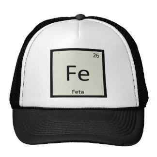 FE - Símbolo de la tabla periódica de la química d Gorras De Camionero