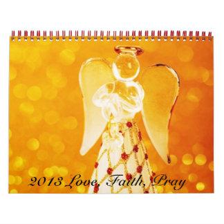 Fe y amor Jesús Calendario De Pared