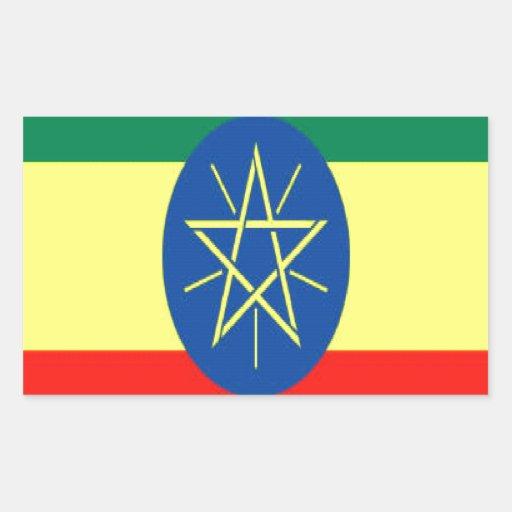Fe y esperanza de Etiopía Pegatina Rectangular