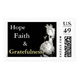 Fe y Gratefulness de la esperanza del sello de