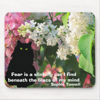 Fear - a slinking cat - S. Tunnell Mouse Pad