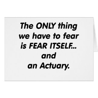fear actuary greeting card
