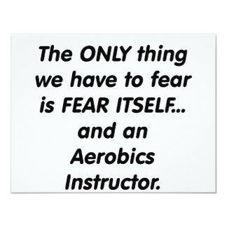 fear aerobics instructor card