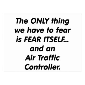 fear air traffic controller postcard
