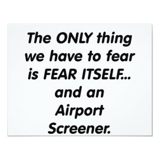fear airport screener card