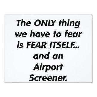 fear airport screener card