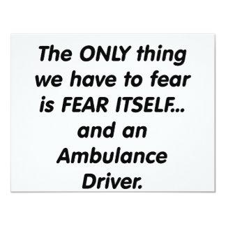 fear ambulance driver card