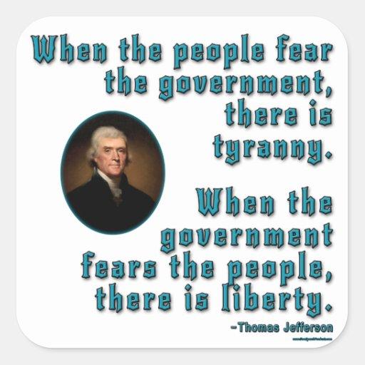 Fear and Government Square Sticker