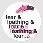 Fear and Loathing Classic Round Sticker