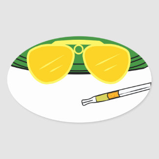 Fear and Loathing In Las Vegas Raoul Duke Oval Sticker