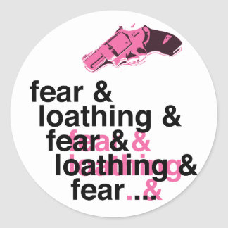 Fear and Loathing Round Sticker