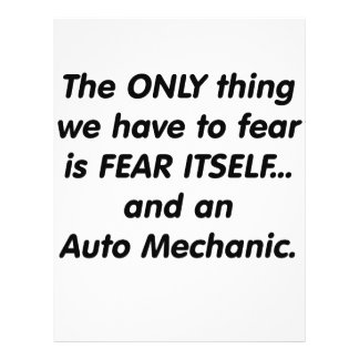 fear auto mechanic full color flyer