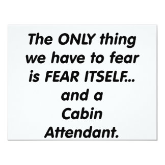 fear cabin attendant card
