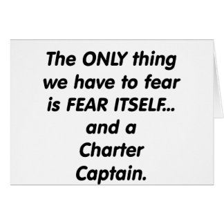 Fear Charter Captain Card