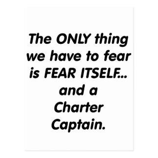 Fear Charter Captain Postcard