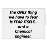 fear chemical engineer greeting card
