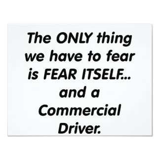 fear commerical driver card