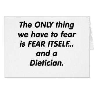 fear dietician greeting card
