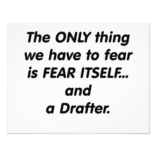 fear drafter custom invitation
