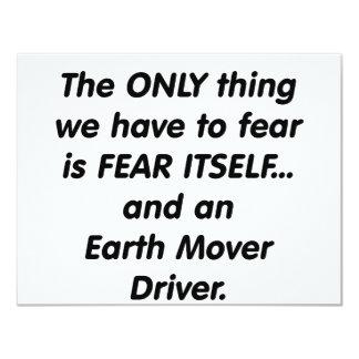 fear earth mover driver 4.25x5.5 paper invitation card
