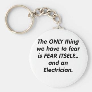 Fear electrician keychain