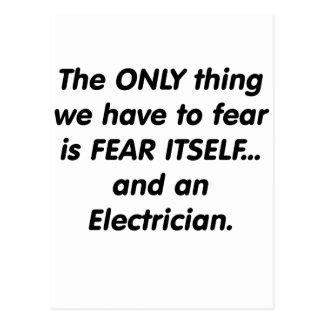 Fear electrician postcard