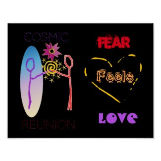 """Fear Feels Love"" Poster"