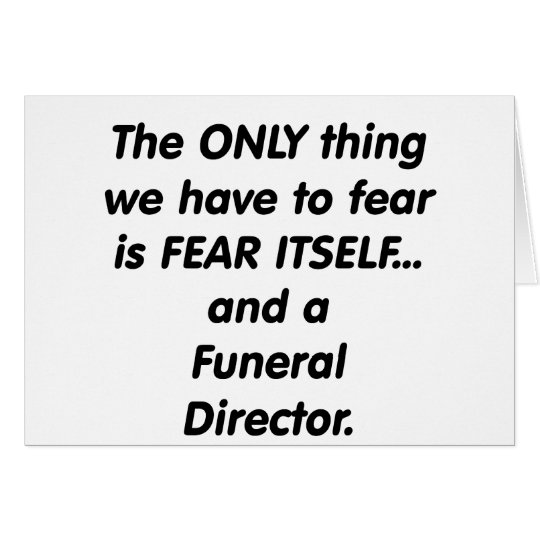 fear funeral director card