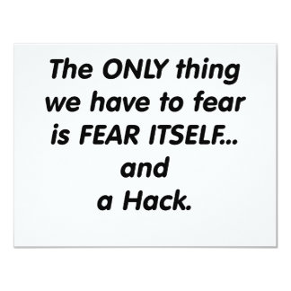 fear hack card