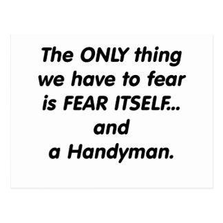 Fear handyman postcard