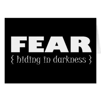 Fear - hiding in darkness card