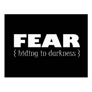 Fear - hiding in darkness postcard
