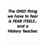 Fear History Teacher Postcard