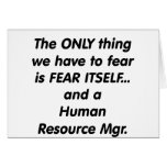 fear human resource manager greeting cards
