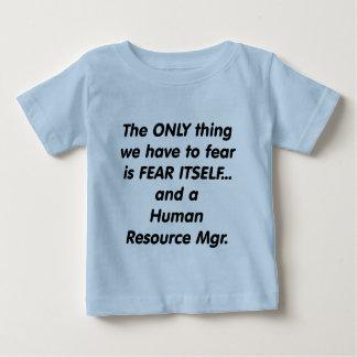 fear human resource manager tee shirt