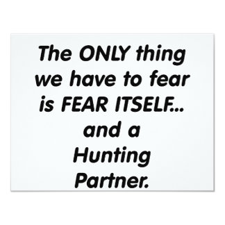 fear hunting partner card