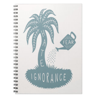 Fear + Ignorance = Hate Spiral Notebooks