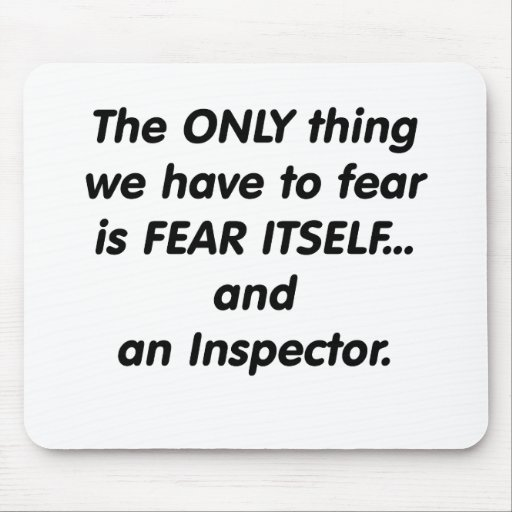 fear inspector mouse pad