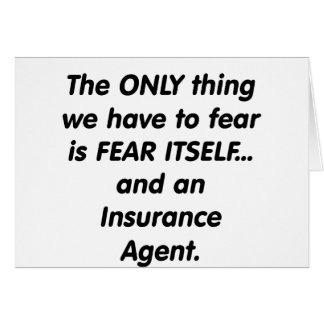 Fear insurance agent card