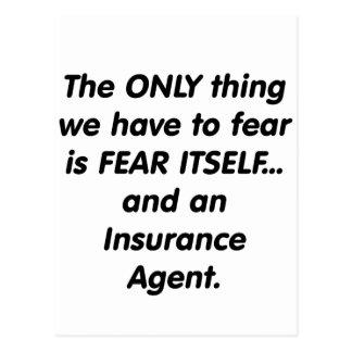 Fear insurance agent postcard