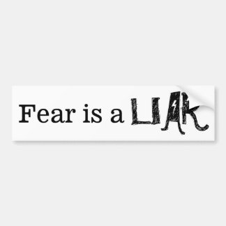 Fear is a Liar   Sayings   Any Style Customizable Bumper Sticker