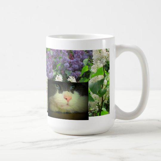 Fear is a slinking cat coffee mug