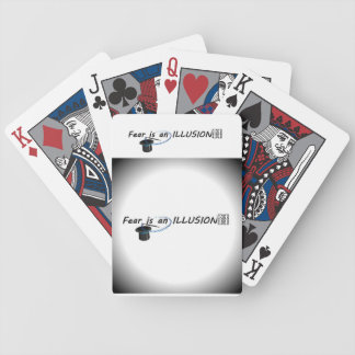 FEAR IS AN ILLUSION BICYCLE PLAYING CARDS