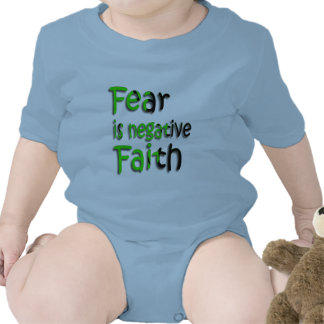 Fear Is Negative Faith 3 Rompers