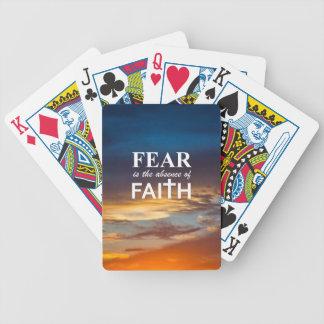 Fear is the Absence of Faith Poker Deck