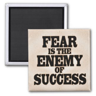 Fear is the Enemy of Success