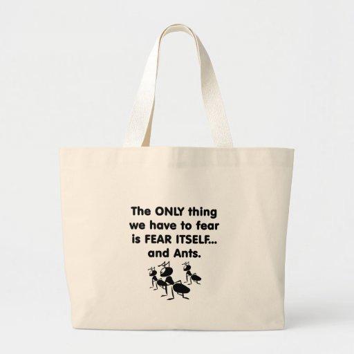 Fear it Itself Ants Jumbo Tote Bag