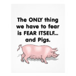 Fear Itself Pigs 3 Personalized Flyer