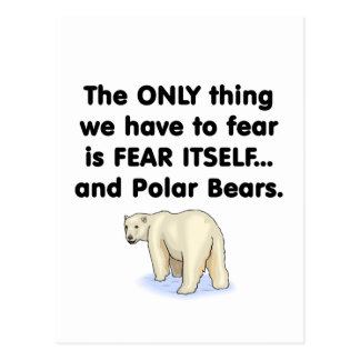 Fear Itself Polar Bears Postcard