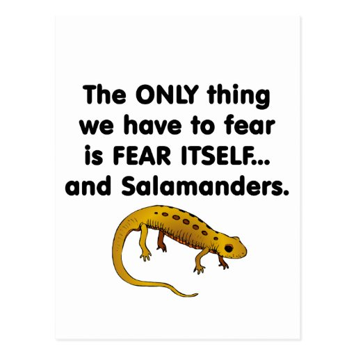 Fear Itself salamanders Postcard